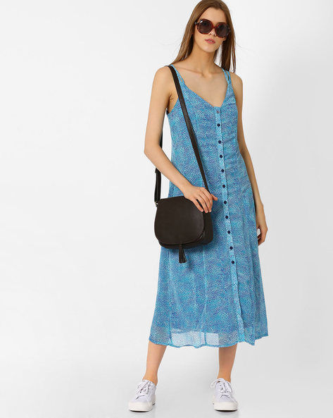 Strappy Shirt Dress By Oxolloxo ( Blue )