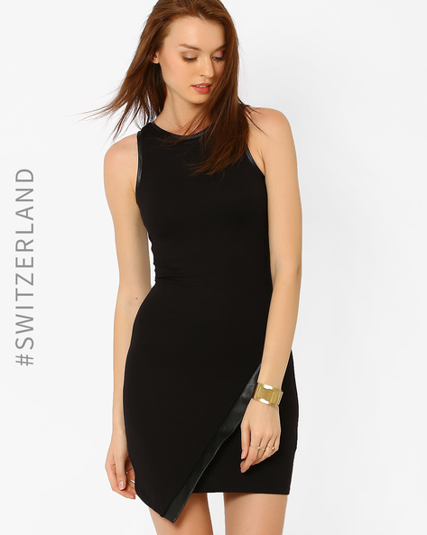 Bodycon Dress With Zip By TALLY WEiJL ( Black )