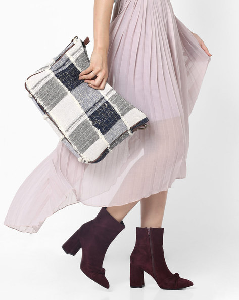 Checked Canvas Hobo Bag By Project Eve ( Multi )