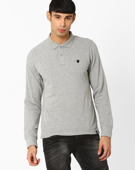 Regular Fit Polo T-shirt By Lee ( Gray )