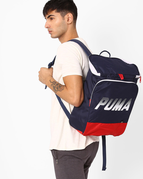 Graphic Print Backpack By Puma ( Cherry )