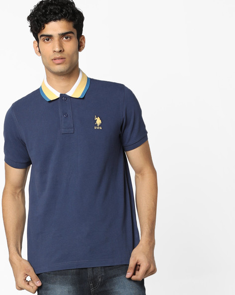 Polo T-shirt With Step Hem By U.S. Polo Assn. ( Assorted )