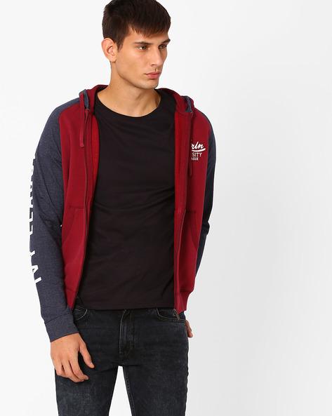 Regular Fit Sweatshirt With Raglan Sleeves By PROLINE ( Maroonburg )