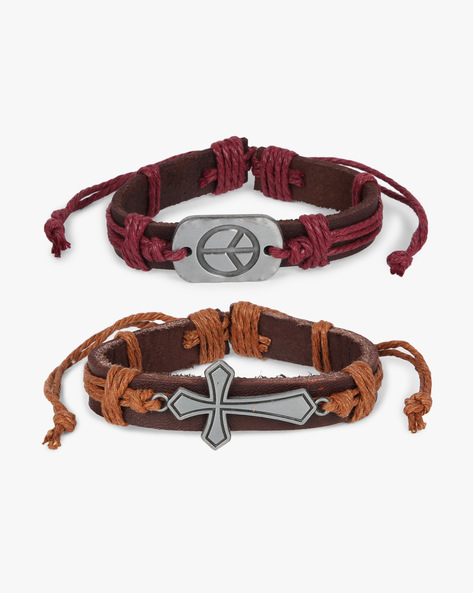 Pack Of 2 Bracelets By ALPHA MAN ( Brown ) - 460134366001