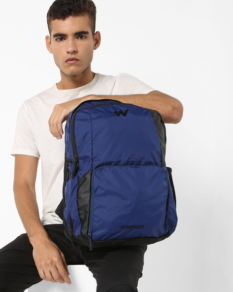 Checked Laptop Backpack By Wildcraft ( Blue )