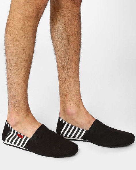 Canvas Loafers With Stripes By Funk ( Black )