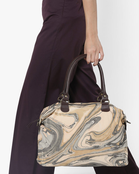 Marble Print Handbag By Project Eve ( Multi )