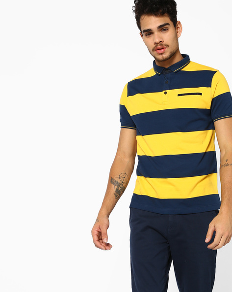 Polo T-shirt With Slim Collar By Fort Collins ( Yellow )
