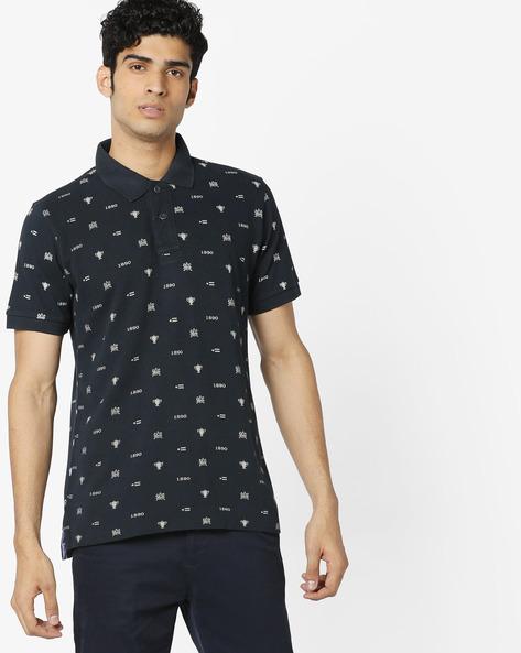 All-Over Print Polo T-shirt By U.S. Polo Assn. ( Navy )