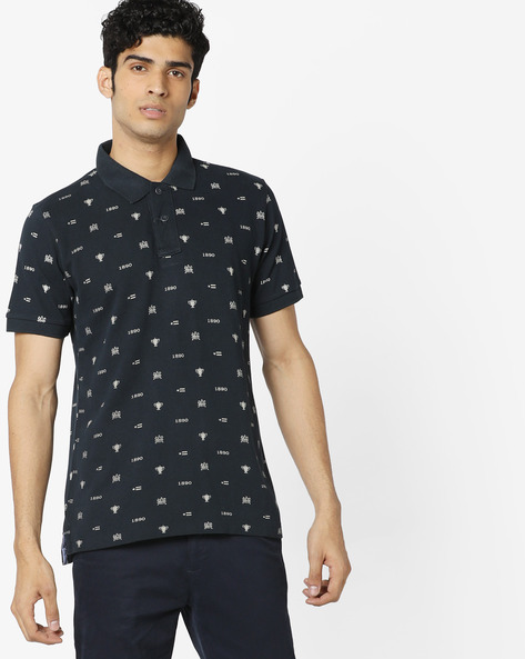 All-Over Print Polo T-shirt By US POLO ( Navy )