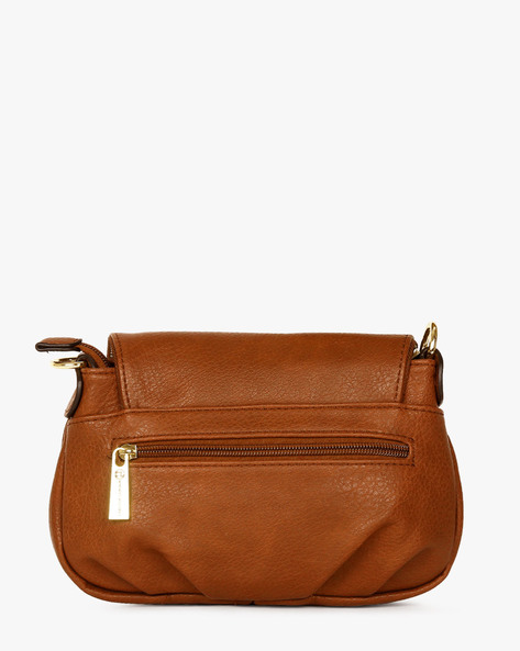 Textured Sling Bag By Carlton London ( Taupe )