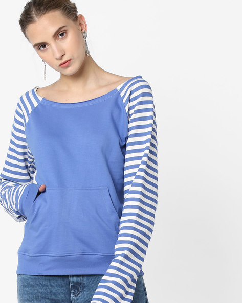 Striped Sweatshirt With Ribbed Hems By Blue Saint ( Multi )