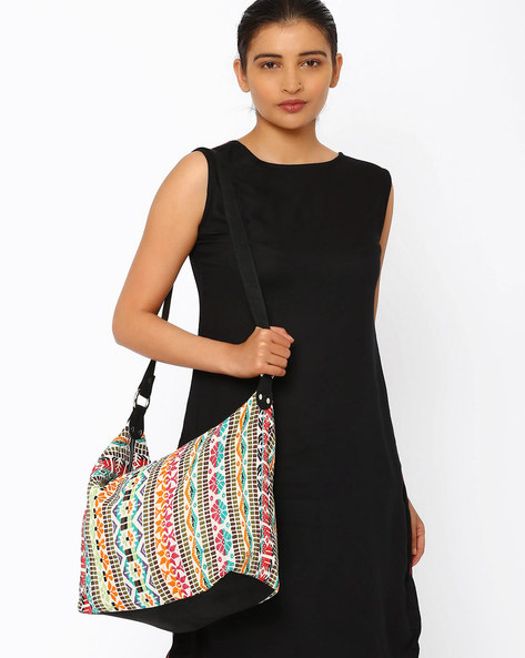 Cotton Woven Shoulder Bag By Noorani Biswas ( Multi )