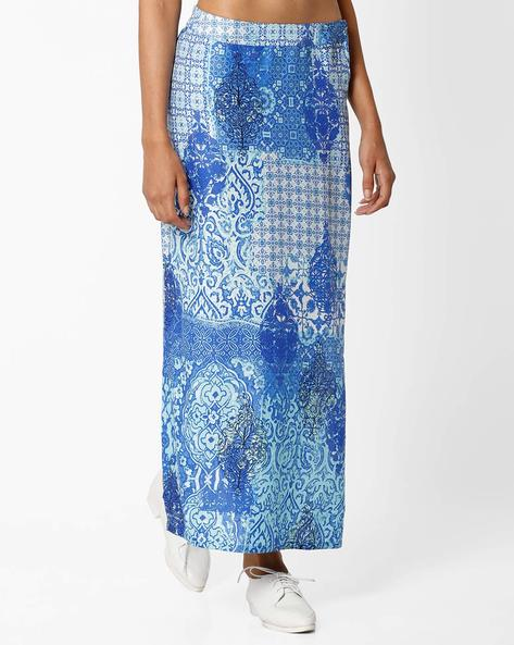 Printed Maxi Skirt By Global Desi ( Multi )