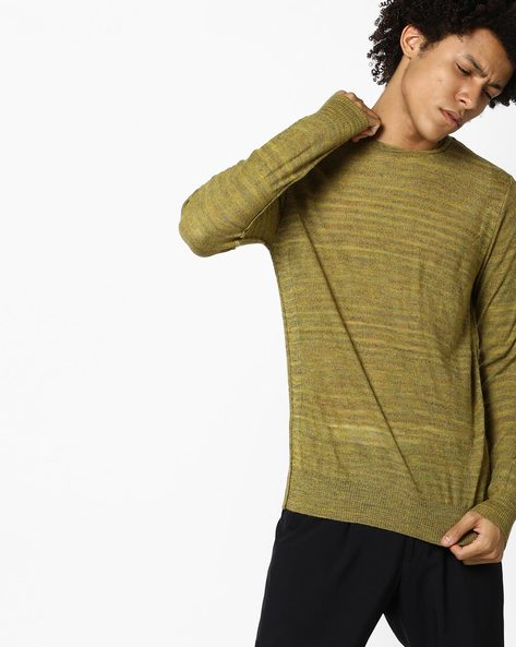 Striped Crew-Neck Pullover By GAS ( 3612 )