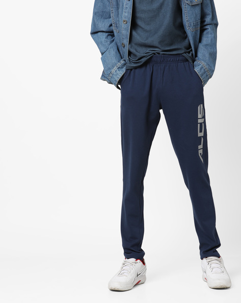 Mid-Rise Track Pants With Pockets By ALCIS ( Navyblue )
